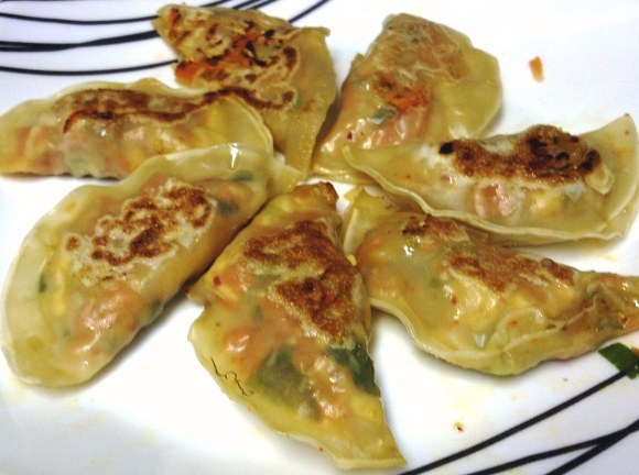 Tofu and Kimchi Dumplings
