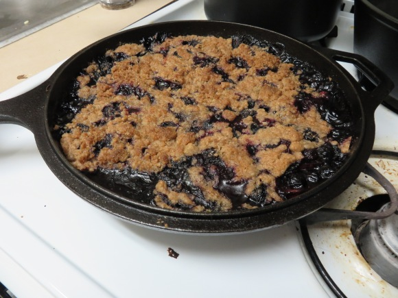 Peach and Blueberry Whole-Wheat Crisp