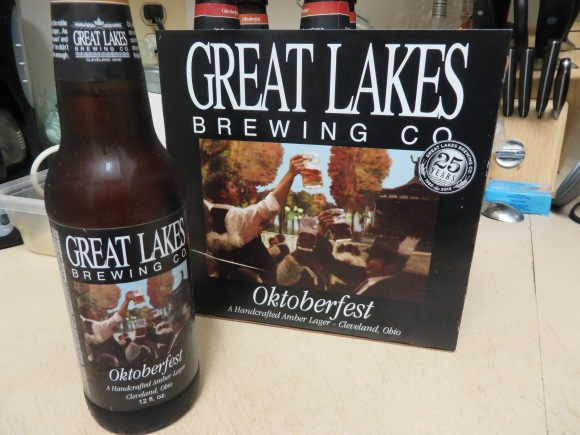We ate our chicken with an Oktoberfest from Great Lakes Brewing Co.  It's a little early for Oktoberfest, but it's hard not to enjoy any beer from Great Lakes Brewing Co. at any time of the year.