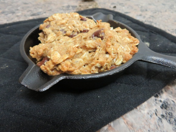 Whole Wheat Chocolate Chip Oatmeal Skillet Cookie