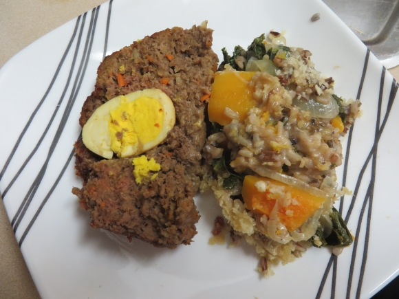 Meatloaf with Wild Rice Au Gratin