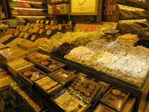 Turkish delight in the Grand Bazaar.  It was hard not to eat all of these.