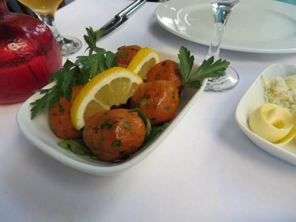 Turkish lentil balls.  Definitely plan to recreate these.