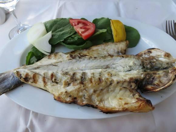 Fresh sea bass on Princes' Islands.